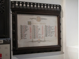 List of rectors donated by Miss Crompton