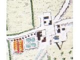 Rocque map 1746 enlarged with details of manor house etc