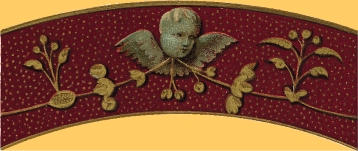 page decoration of cherub